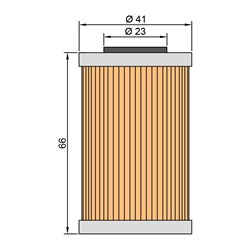 Filtro de Oleo Twin Air Ktm 450 03/07 2º Filtro Maior