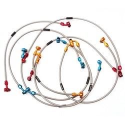 Flexível de Freio Dianteiro Crf 230 - Crf 250f Vermelho Oxxy