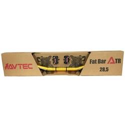 Guidão AVTEC Fat Bar com Adaptador Vermelho Dourado