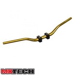 Guidão Mx Tech Fatbar Com Adaptador 32mm Dourado
