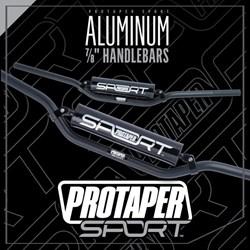 Guidão Protaper Sport 7/8 Crossbar 22mm Preto