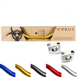 Guidão Vyrus Fat Bar 28mm Alto Com Adaptador Verde