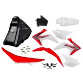 Kit Adaptavel Crf 230 Amx Avtec Cw Vermelho Branco