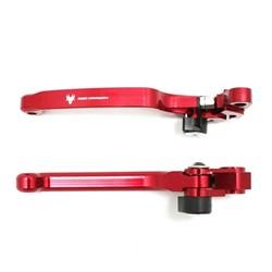 Kit Manete Retrátil Crf 230 / Crf 250f Vermelho Red Dragon