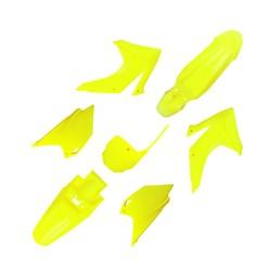 Kit Plastico Completo Crf 230 Com Number Amarelo Fluor Ufo