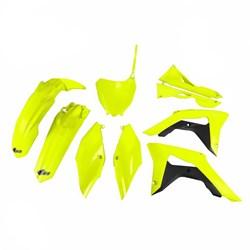 Kit Plastico Completo Crf 250 18/19 - Crf 450 17/19 Amarelo Fluor Ufo