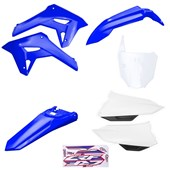Kit Plastico Completo Crf 250f 21 Amx Azul Branco Azul