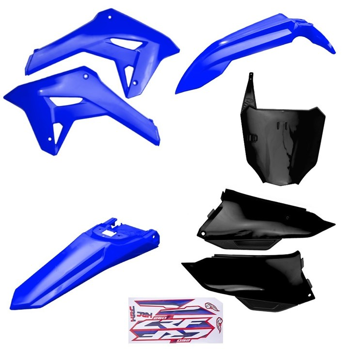 Kit Plastico Completo Crf 250f 21 Amx Azul Preto Azul