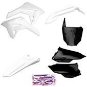 Kit Plastico Completo Crf 250f 21 Amx Branco Preto Branco