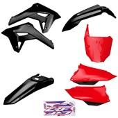 Kit Plastico Completo Crf 250f 21 Amx Preto Vermelho Preto