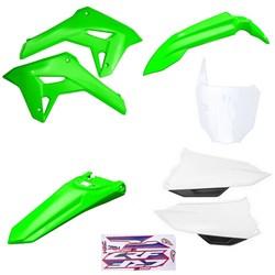 Kit Plastico Completo Crf 250f 21 Amx Verde Branco Verde