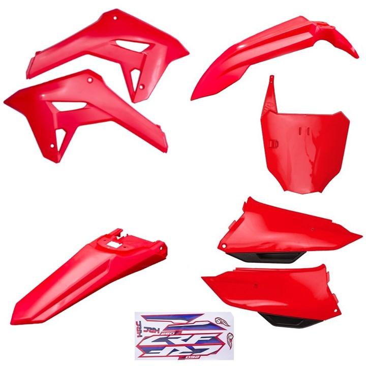 Kit Plastico Completo Crf 250f 21 Amx Vermelho