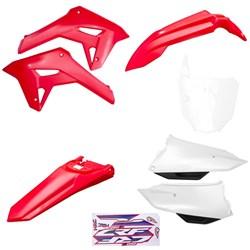 Kit Plastico Completo Crf 250f 21 Amx Vermelho Branco Branco