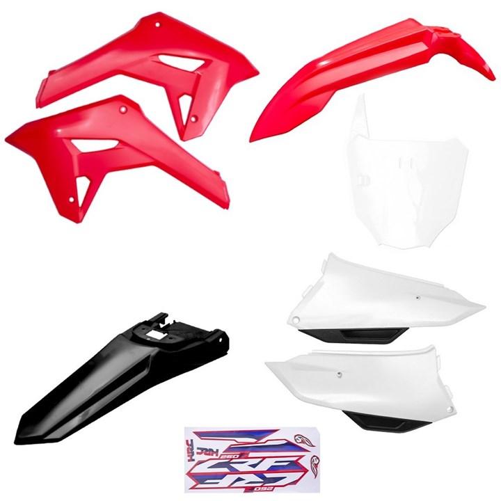 Kit Plastico Completo Crf 250f 21 Amx Vermelho Branco Preto