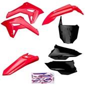 Kit Plastico Completo Crf 250f 21 Amx Vermelho Preto Vermelho