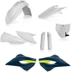 Kit Plástico Completo Husqvarna Te/fe 2016 Azul Branco Acerbis