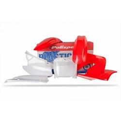 Kit Plastico CR 125 2000 a 2001 POLISPORT Vermelho Branco