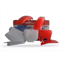 Kit Plastico Cr 125 95/97 Cr 250 95/96 Polisport Vermelho Branco