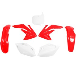 Kit Plastico Crf 150 R Original Vermelho Branco Red Dragon