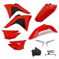 Kit Plastico Crf 230 Amx Premium 19 Vermelho