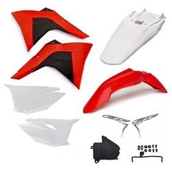 Kit Plastico Crf 230 Amx Premium 19 Vermelho Fluor