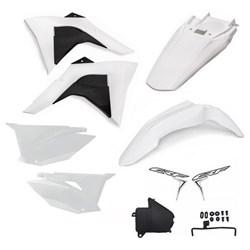 Kit Plastico CRF 230 Amx PREMIUM 2019 Branco