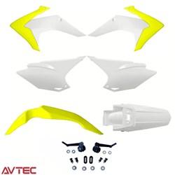 Kit Plástico CRF 230 AvTec Amarelo Branco