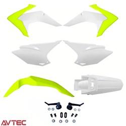 Kit Plástico CRF 230 AvTec Amarelo Fluor Branco