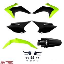 Kit Plástico CRF 230 AvTec Amarelo Neon Preto