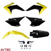 Kit Plástico CRF 230 AvTec Amarelo Preto