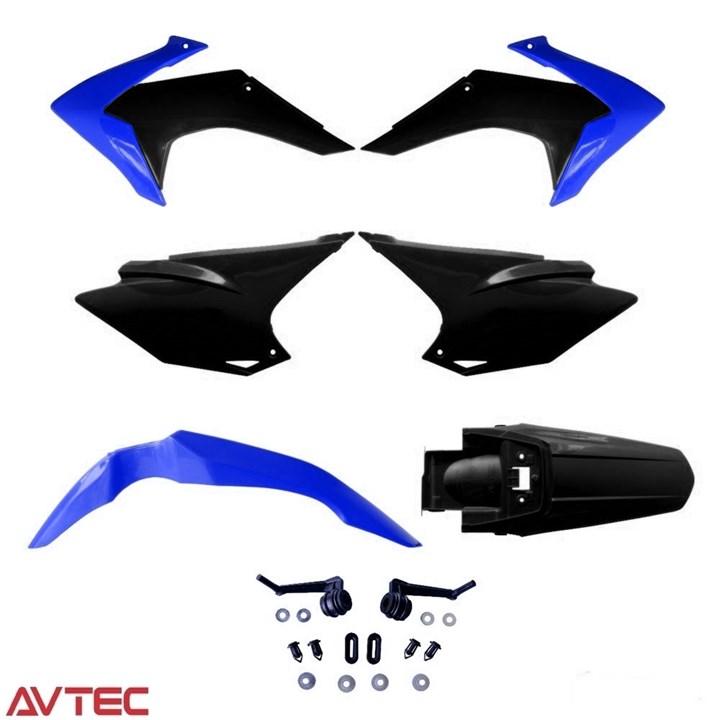 Kit Plástico CRF 230 AvTec Azul Preto