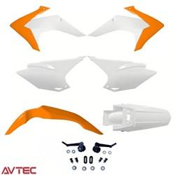 Kit Plástico CRF 230 AvTec Laranja Branco