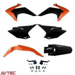 Kit Plástico CRF 230 AvTec Laranja Preto