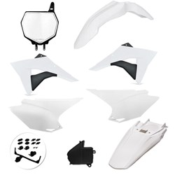 Kit Plástico Crf 230 Avtec + Number Plate Frontal Branco