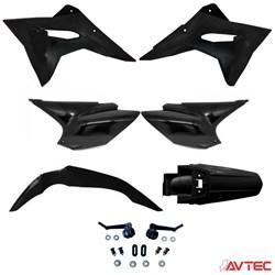 Kit Plástico CRF 230 AvTec PRO Preto