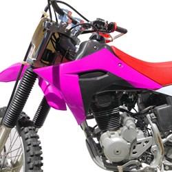 Kit Plástico CRF 230 AvTec PRO Rosa Branco
