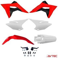 Kit Plástico CRF 230 AvTec PRO Vermelho Branco