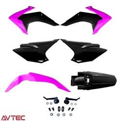 Kit Plástico CRF 230 AvTec Rosa Preto