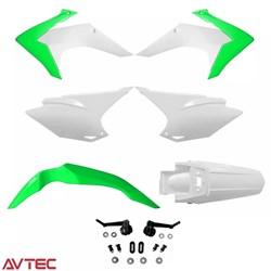 Kit Plástico CRF 230 AvTec Verde Branco