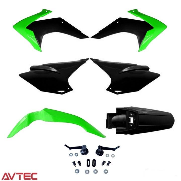 Kit Plástico CRF 230 AvTec Verde Preto