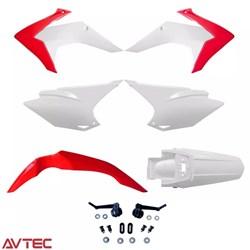 Kit Plástico CRF 230 AvTec Vermelho Branco