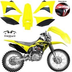 Kit Plastico CRF 230 BIKER Elite Amarelo Neon Preto