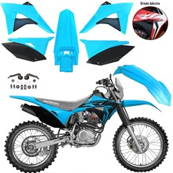 Kit Plastico CRF 230 BIKER Elite Azul Fluor