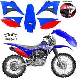 Kit Plastico CRF 230 BIKER Elite Azul Vermelho