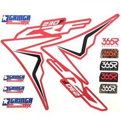 Kit Plastico CRF 230 BIKER Elite Branco Preto