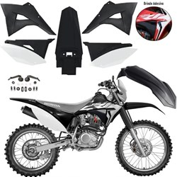 Kit Plastico CRF 230 BIKER Elite Preto Branco