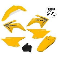 Kit Plastico Crf 230 Com Adesivo Amx Amarelo