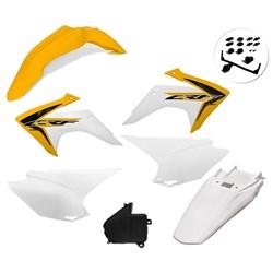 Kit Plastico Crf 230 Com Adesivo Amx  Amarelo Branco