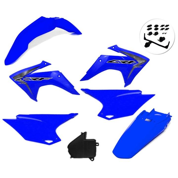 Kit Plastico Crf 230 Com Adesivo Amx Azul