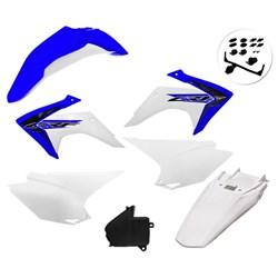 Kit Plastico Crf 230 Com Adesivo Amx Azul Branco